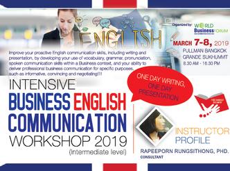INTENSIVE BUSINESS ENGLISH COMMUNICATION WORKSHOP 2019