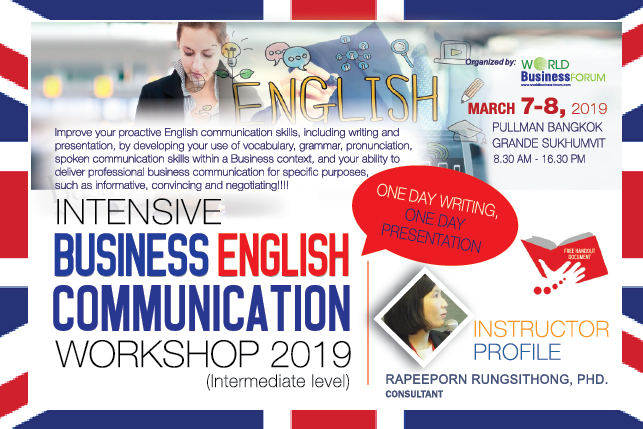 Intensive Business English Communication Workshop 2019