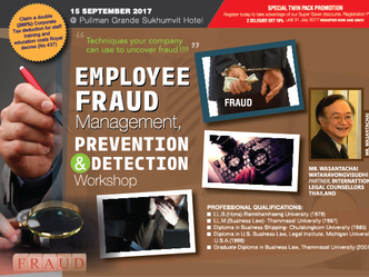 EMPLOYEE FRAUD MANAGEMENT, PREVENTION AND DETECTION WORKSHOP