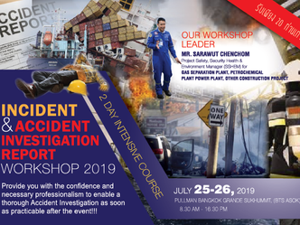 INCIDENT & ACCIDENT INVESTIGATION REPORT WORKSHOP 2019