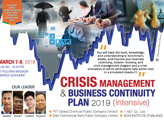 CRISIS MANAGEMENT & BUSINESS CONTINUITY PLAN 2019 (INTENSIVE)