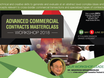 ADVANCED COMMERCIAL CONTRACTS MASTERCLASS WORKSHOP 2018