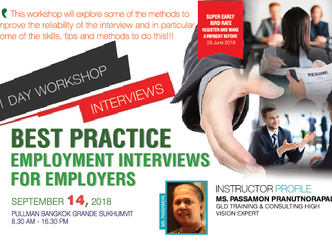 BEST PRACTICE EMPLOYMENT INTERVIEWS FOR EMPLOYERS