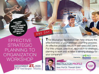 EFFECTIVE STRATEGIC PLANNING TO ORGANIZATION WORKSHOP