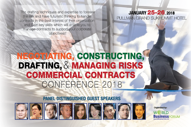 Negotiation, Constructing, Drafting & Managing Risks Commercial Contracts Conference 2018