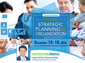 EFFECTIVE STRATEGIC PLANNING TO ORGANIZATION