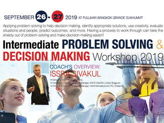 INTERMEDIATE PROBLEM SOLVING & DECISION MAKING WORKSHOP 2019