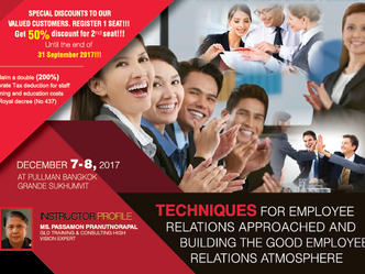 TECHNIQUES FOR EMPLOYEE RELATIONS APPROACHED AND BUILDING THE GOOD EMPLOYEE RELATIONS ATMOSPHERE