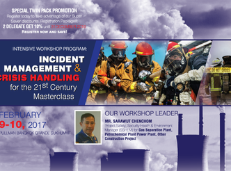 INCIDENT MANAGEMENT & CRISIS HANDLING FOR THE 21ST CENTURY MASTERCLASS WORKSHOP 2017