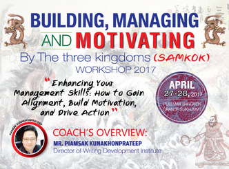 BUILDING, MANAGING AND MOTIVATING BY THE THREE KINGDOMS (SAMKOK)
