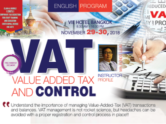 VALUE ADDED TAX (VAT) AND CONTROL [ENGLISH PROGRAM]