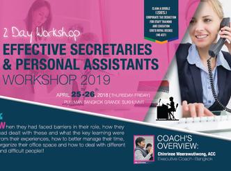 EFFECTIVE SECRETARIES AND PERSONAL ASSISTANTS WORKSHOP 2019