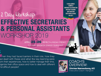 EFFECTIVE SECRETARIES AND PERSONAL ASSISTANTS WORKSHOP 2019