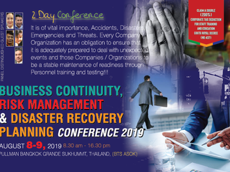 BUSINESS CONTINUITY, RISK MANAGEMENT AND DISASTER RECOVERY PLANNING CONFERENCE 2019