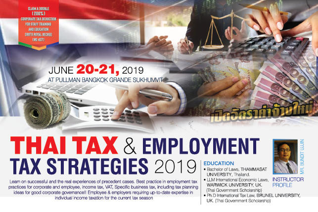 Thai Tax & Employment Tax Strategies 2019
