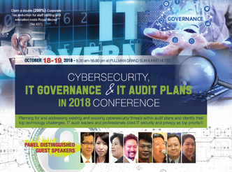 CYBERSECURITY, IT GOVERNANCE & IT AUDIT PLANS IN 2018 CONFERENCE