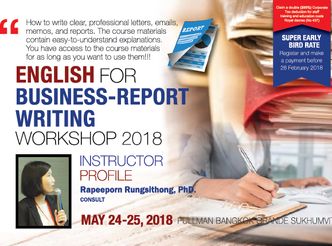 ENGLISH FOR BUSINESS-REPORT WRITING WORKSHOP 2018