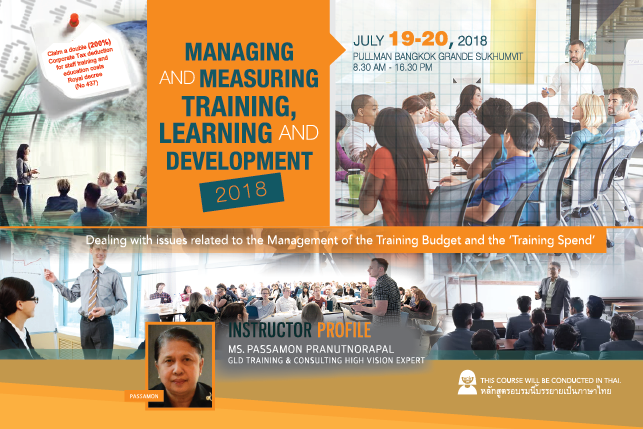 Managing and Measuring Training, Learing and Development 2018