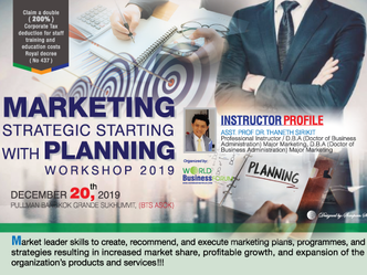 MARKETING STRATEGIC STARTING WITH PLANNING WORKSHOP 2019