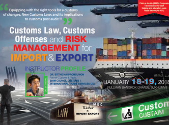 CUSTOMS LAW, CUSTOMS OFFENSES AND RISK MANAGEMENT FOR IMPORT & EXPORT
