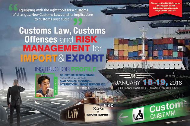 CUSTOMS LAW, CUSTOMS OFFENSES AND RISK MANAGEMENT FOR IMPORT