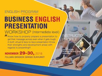 BUSINESS ENGLISH PRESENTATION WORKSHOP (INTERMEDIATE LEVEL)