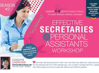 EFFECTIVE SECRETARIES AND PERSONAL ASSISTANTS WORKSHOP SEASON 2