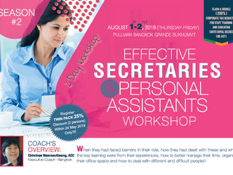 EFFECTIVE SECRETARIES AND PERSONAL ASSISTANTS WORKSHOP SEASON 2