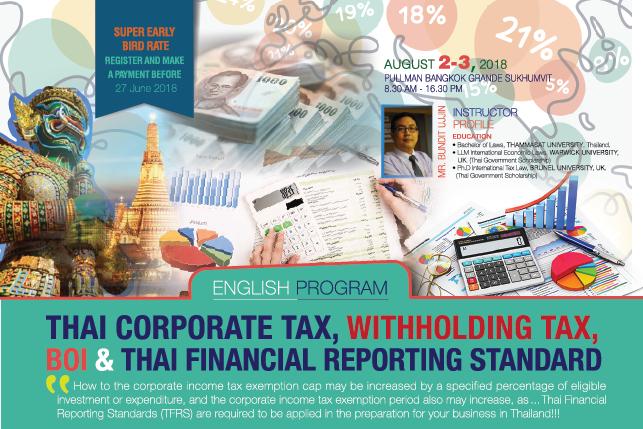 Advanced Thai Tax & Employment Tax Strategies 2018