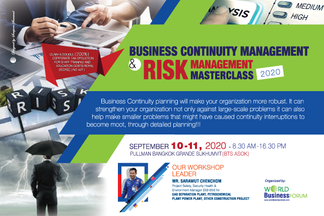 BUSINESS CONTINUITY Management & Risk Management Masterclass 2020