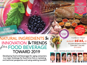 NATURAL INGREDIENTS & INNOVATION & TRENDS FOR FOOD BEVERAGE TOWARD 2019