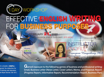 EFFECTIVE ENGLISH WRITING FOR BUSINESS PURPOSES 1 DAY WORKSHOP