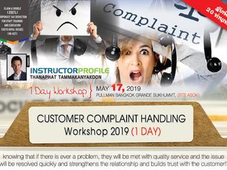 CUSTOMER COMPLAINT HANDLING WORKSHOP 2019