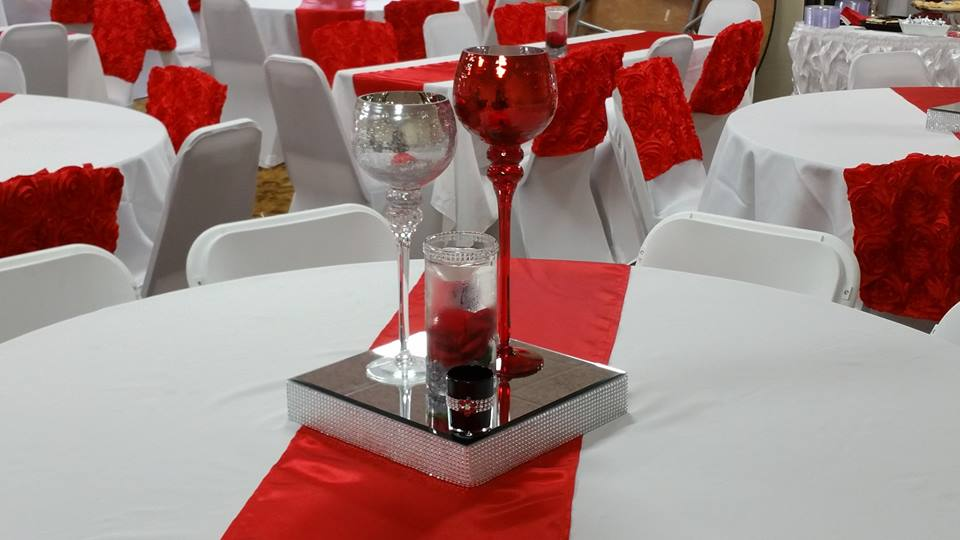 Red & Silver Centerpiece