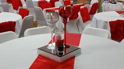 Red & Silver Centerpiece