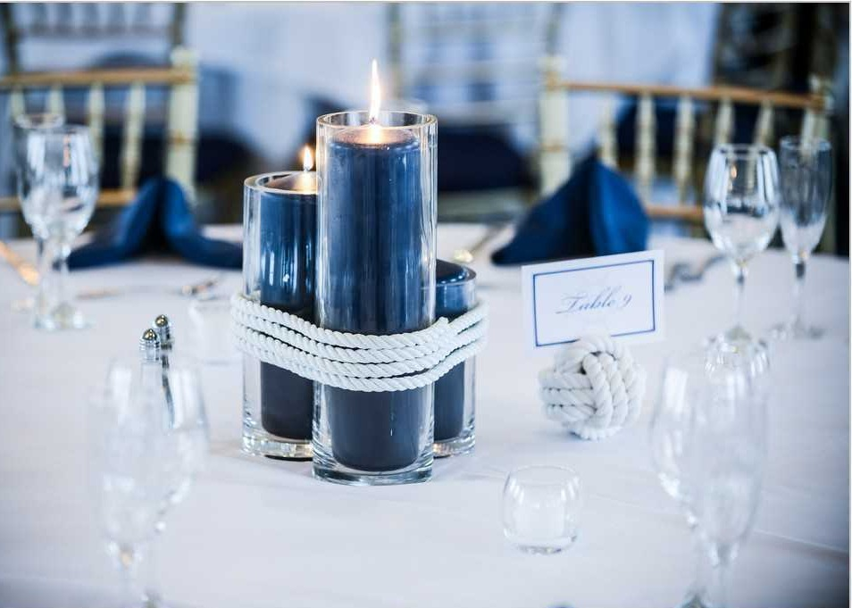 Navy-Blue-Wedding-Centerpiece
