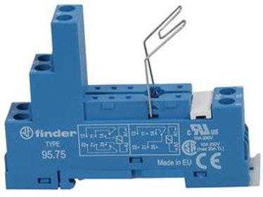 FINDER Relay Socket, DIN Rail, Panel, Screw, 8 Pins, 10 A, 250 V, 95 Series