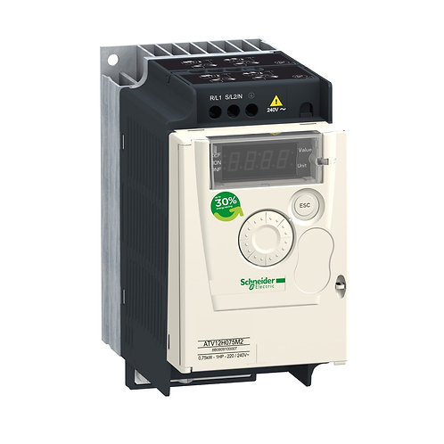Variable speed drive ATV12 - 0.75kW - 1hp - 200..240V - 1ph - with heat sink