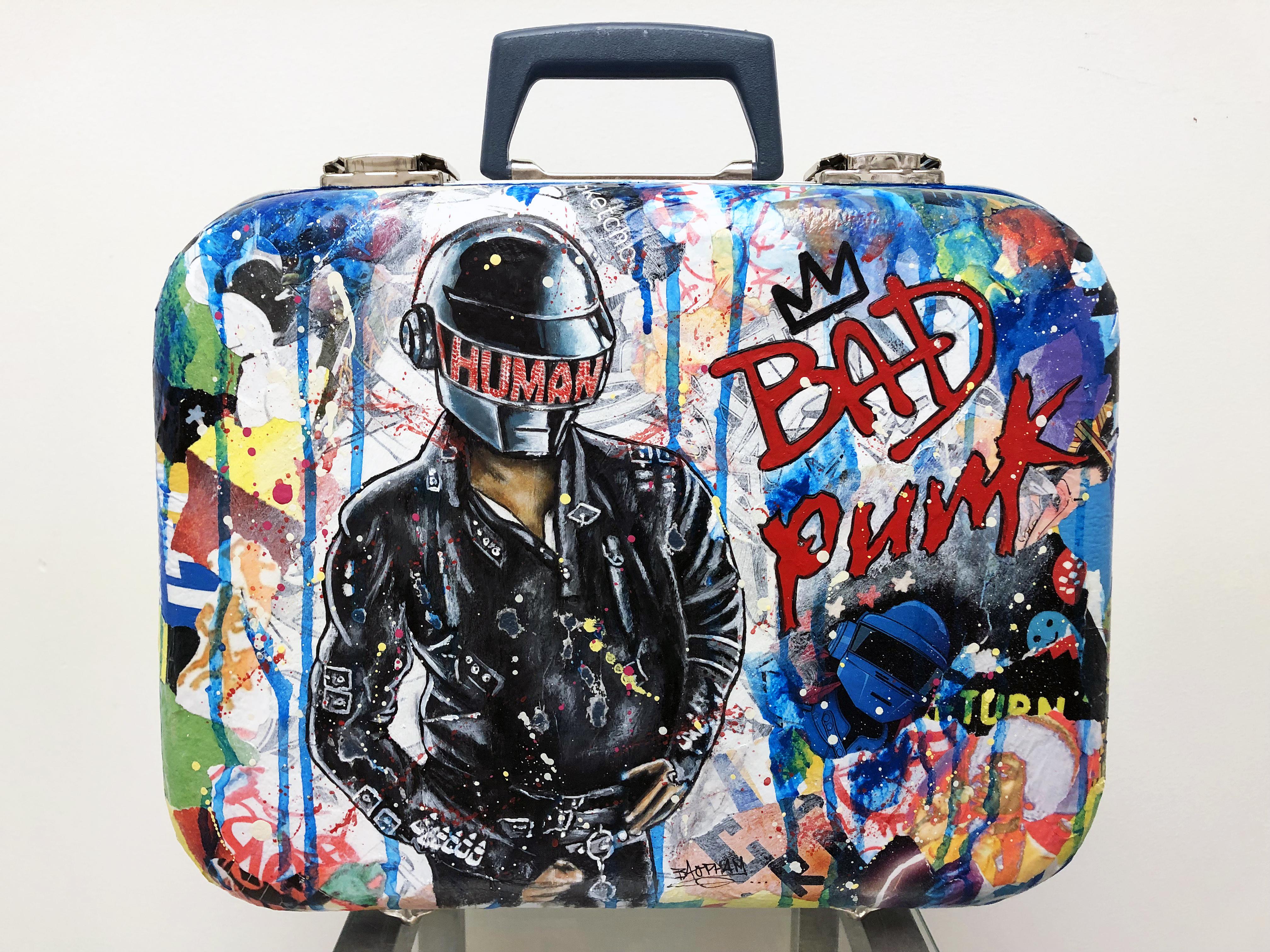 Custom Vintage Luggage: MJ Bad Punk.