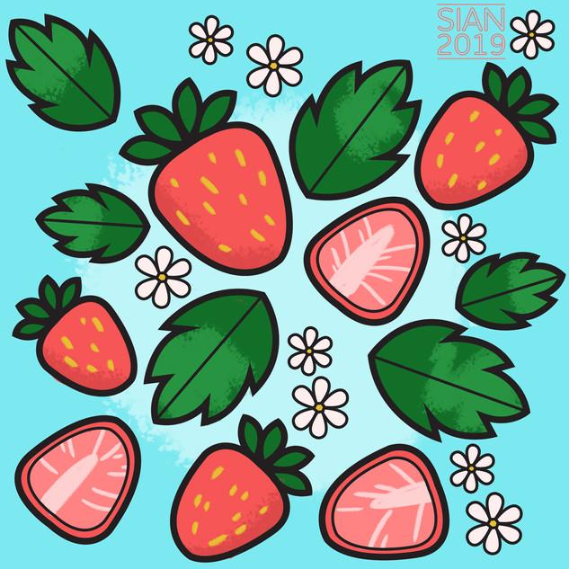 Fruit Pattern - Summer Strawberry