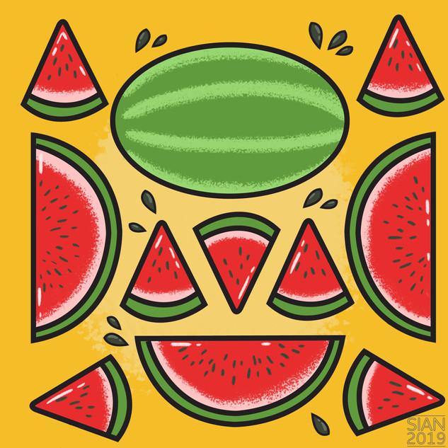 Fruit Pattern - Summer Watermelon