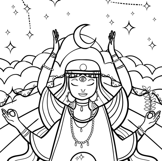 Sian Jefferson - Colouring Book Sample 0