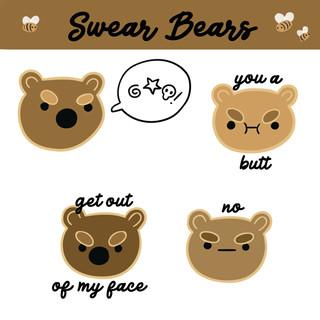 Swear Bears Sticker Pack Design