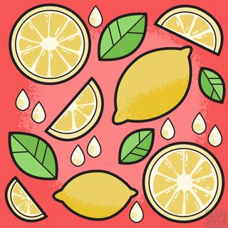 Fruit Pattern - Summer Lemon
