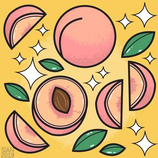 Fruit Pattern - Summer Peach