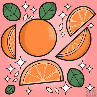 Fruit Pattern - Summer Orange