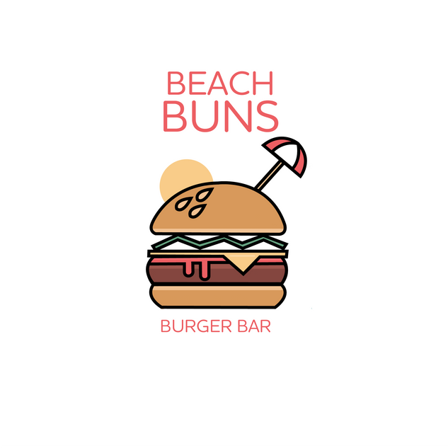 Beach Buns Burger Bar - Logo Design