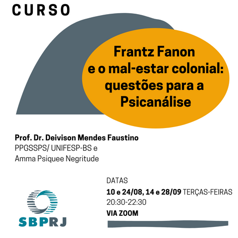 Curso Frantz Fanon e o mal-estar colonial: questões para a Psicanálise