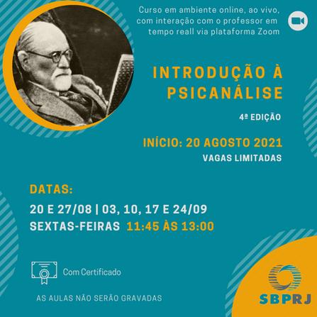 Curso Introdução à Psicanálise - 4ª edição