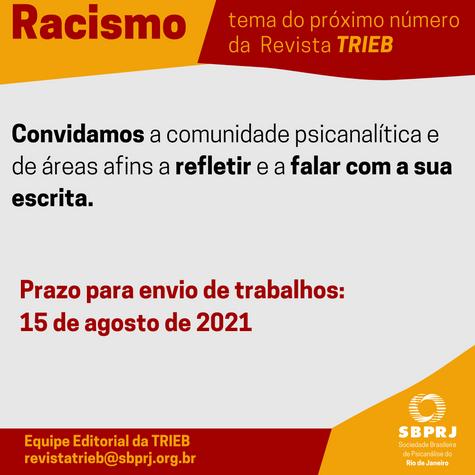 Envio de trabalhos para a Revista TRIEB - Racismo